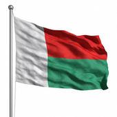マダガスカルの旗. — ストック写真