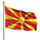Flag of Macedonia — Stock Photo