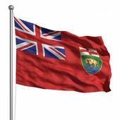 Vlajka manitoba — Stock fotografie