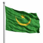 Moritanya bayrağı. — Stok fotoğraf