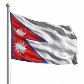 Nepálská vlajka — Stock fotografie