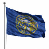 Flag of Nebraska — Stock Photo