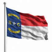 Flag of North Carolina — Stock Photo