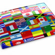 Collection of flags — Stock Photo