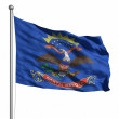 north Dakotas flagga — Stockfoto