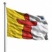 Vlajka nunavut — Stock fotografie
