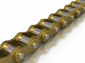 Gold - Bicycle chain — Stock Photo