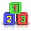 Play Blocks - Numbers — Stock Photo