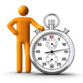 Tenendo il cronometro — Foto Stock