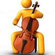 Playing Cello — Stock Photo