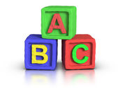 Play Blocks - ABC — Stock Photo