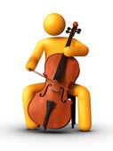 Playing Cello — Stock Photo