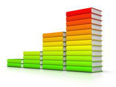 Colorful books graph — Stock Photo