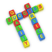 Crossword Puzzle : SUCCESS QUALITY SERVICE — Stock Photo