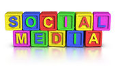 блоков игры: социальные медиа — Стоковое фото