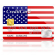Stock Photo: Credit Card covered with American flag.