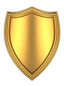 Brushed Gold shield — Stock Photo