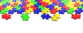 Puzzle puzzle coloré — Photo