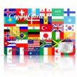 Stock Photo: Credit Card covered with Flags.