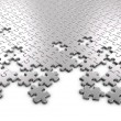 Metal Jigsaw Puzzle Pieces — Stock Photo