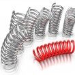 Stock Photo: Individuality - Springs