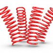 Stock Photo: Bouncing Springs
