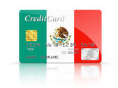 Credit Card covered with Mexico flag. — Stock Photo