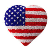 American Flag - Fluffy Heart — Stock Photo