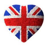 British Flag - Fluffy Heart — Stock Photo