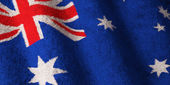 Flag of Australia - Fluffy — Stock Photo