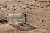 Pollution - Jar on Beach — Stock Photo