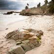 Beach Rock Formation - Stock Photo