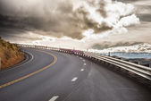 Sky Road Curve — Stock Photo