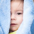 Baby Boy Under Blanket — Stock Photo