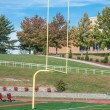 Football Goal Post - Stock Photo