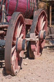 Old West Wagon Wheel — Stock Photo