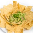 Guacamole and Chips - Stock Photo