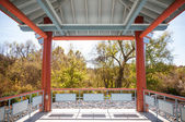 Japanese Style Gazebo — Stock Photo
