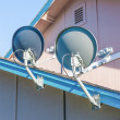Stock Photo: Two Dish Antennas