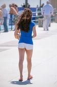 Girl In Shorts — Stock Photo