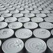Endless Stockpile of Tin Cans — Stock Photo