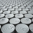 Endless Stockpile of Tin Cans - Stock Photo