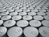 Arsenal interminable de latas — Foto de Stock