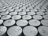 Endless Stockpile of Tin Cans — Foto de Stock