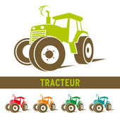 Tracteur agricole vecteur, farm tractor vector — Stock Vector
