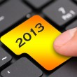 Stock Photo: 2013 button