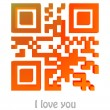 QR Code of I love you — Stock Photo