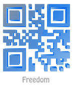 "QR Code of ""Freedom"" — Stock Photo"