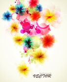 Abstract background with flower — Stock Vector
