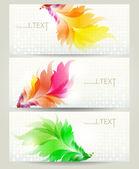 Conjunto de elementos de design. conjunto de modelos para cartões de visita. — Vetor de Stock